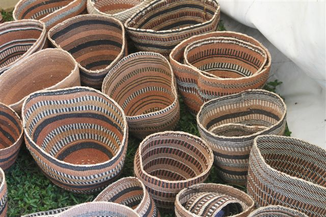 Handwoven sisal baskets